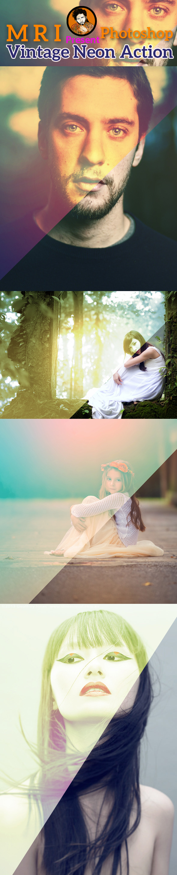 GraphicRiver Vintage Light Leaks Action 9098981