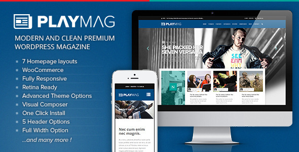 Download PlayMag - Creative Magazine & Shop WordPress Theme nulled download