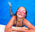 Little girl in pool with goggles - PhotoDune Item for Sale