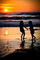 little girls in a sunset - PhotoDune Item for Sale
