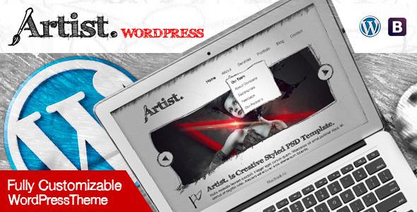 ThemeForest Artist Multipurpose Sketch Layout Wordpress Theme 8922211