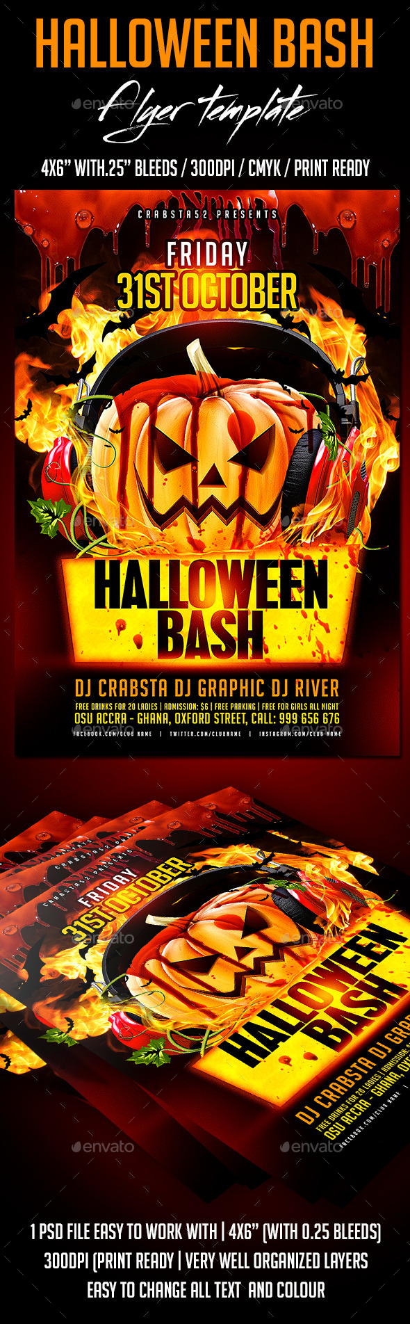 GraphicRiver Halloween Bash Flyer Template 9099245