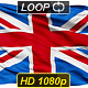 Realistic looping Great Britain(English) flag. - VideoHive Item for Sale