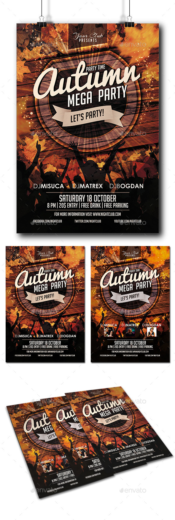 GraphicRiver Autumn Party Flyer 9099891