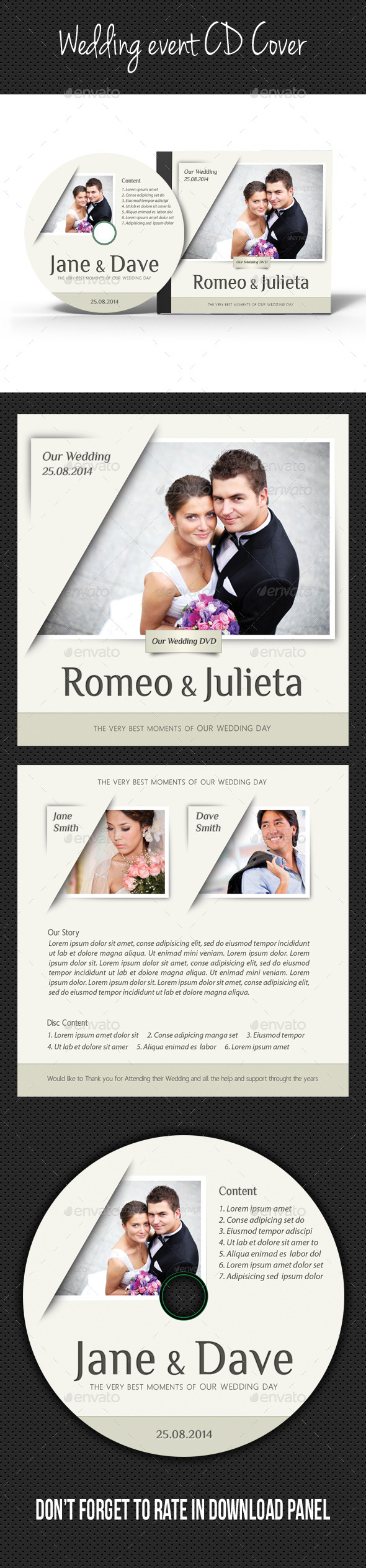 GraphicRiver Wedding Event CD Cover V04 9100109