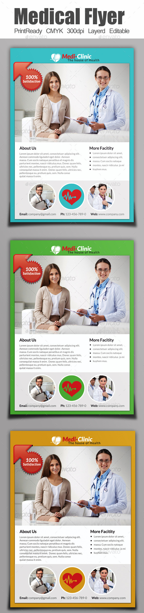 GraphicRiver A4 Medical Flyer 9100139