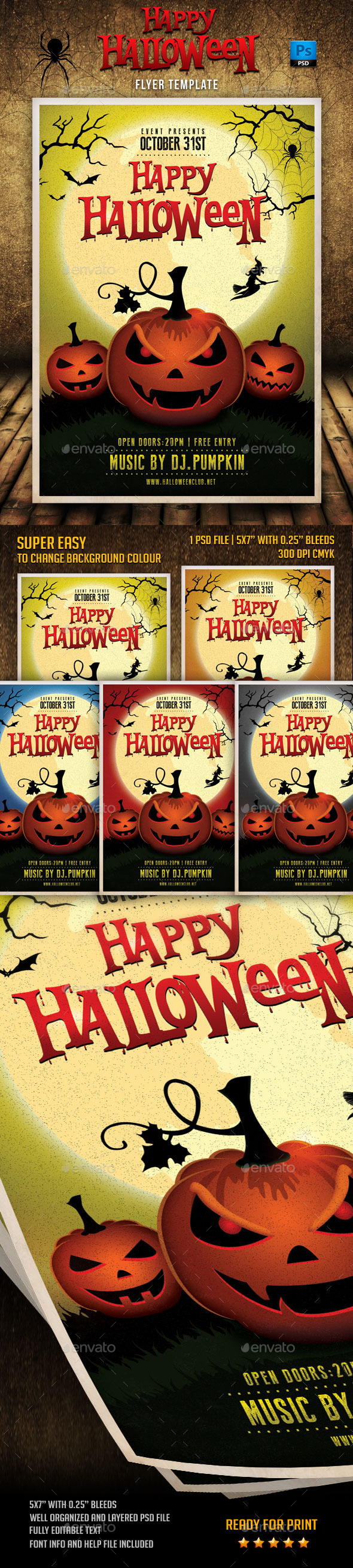 GraphicRiver Happy Halloween Flyer Template 9100146