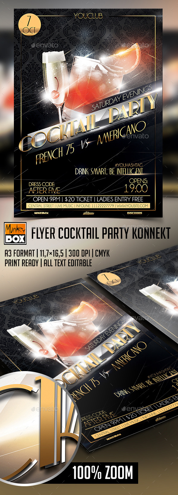 GraphicRiver Flyer Cocktail Party 9100291