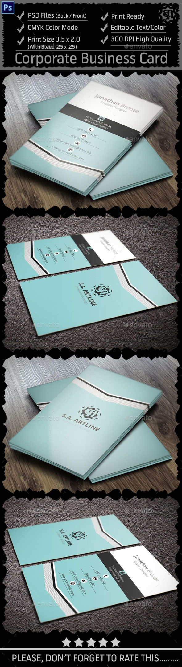 GraphicRiver Creative Corporate Business Card 9100545