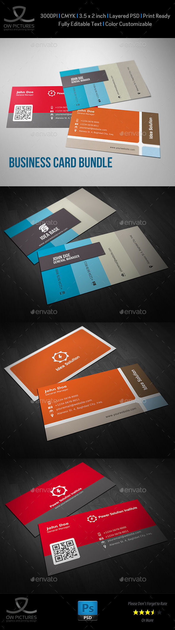 GraphicRiver Corporate Business Card Bundle Vol.5 9100552
