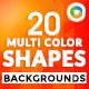 20 Multi Color Shape Backgrounds - GraphicRiver Item for Sale