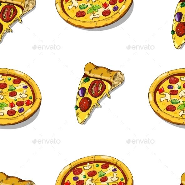 GraphicRiver Pizza Seamless 9100616
