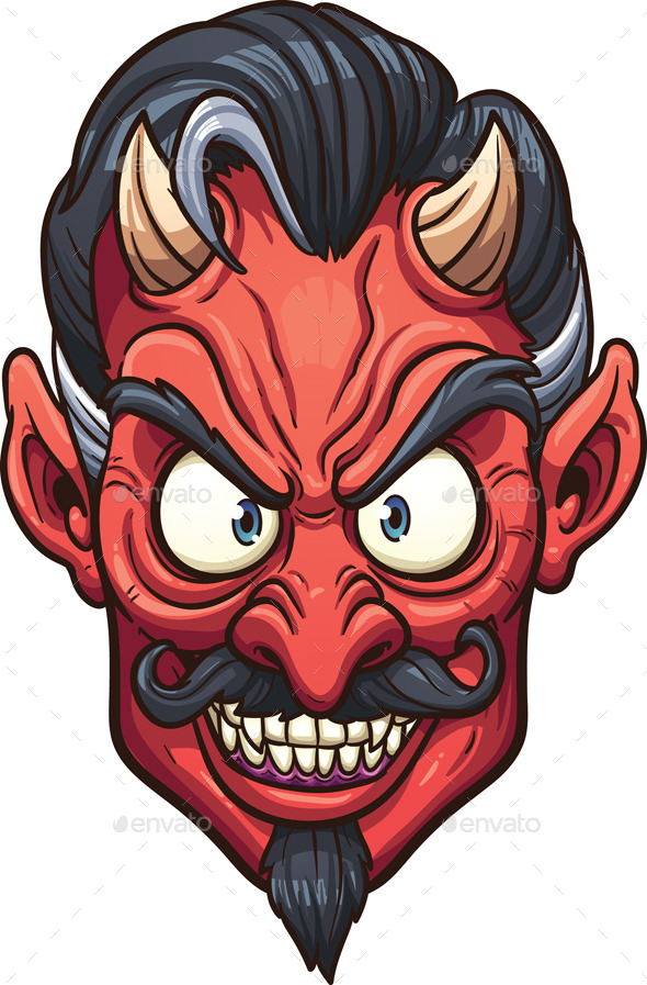 GraphicRiver Devil Face 9100908