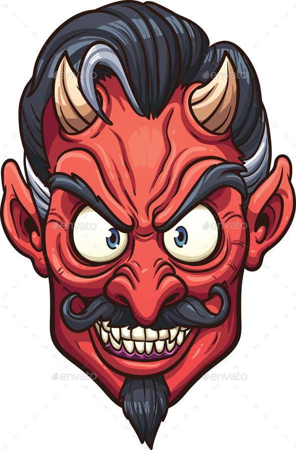 GraphicRiver Devil Face 9100908