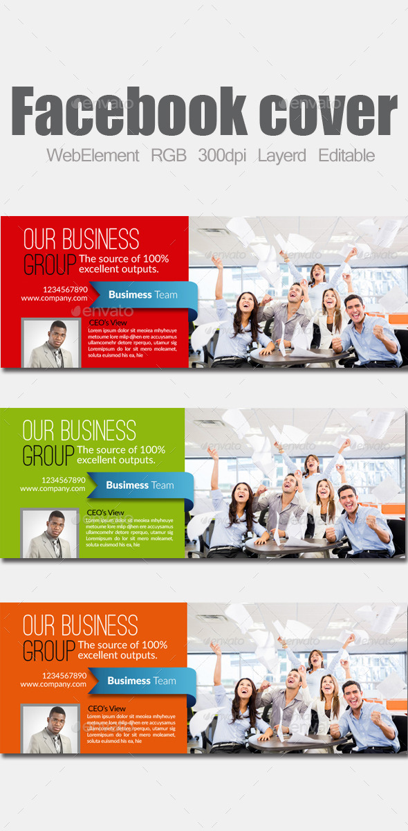 GraphicRiver Business Facebook Cover 9101170