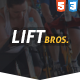Link toLiftbros. html template for gyms & fitness clubs