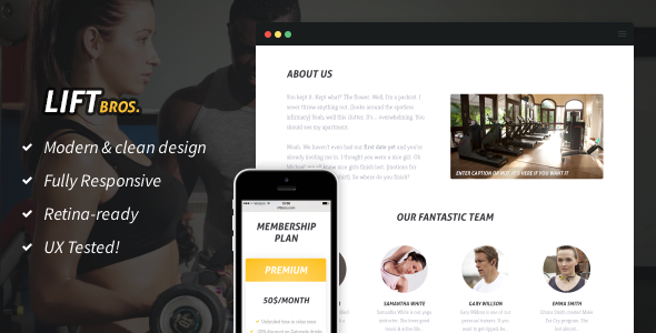 ThemeForest LiftBros HTML Template for Gyms & Fitness Clubs 8886056