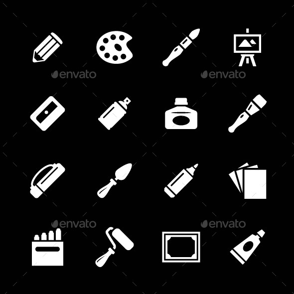 GraphicRiver Set Icons of Art 9101390