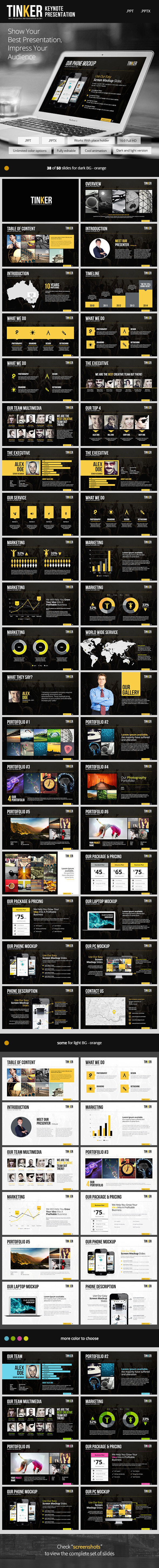 GraphicRiver TINKER Powerpoint Template 9101636