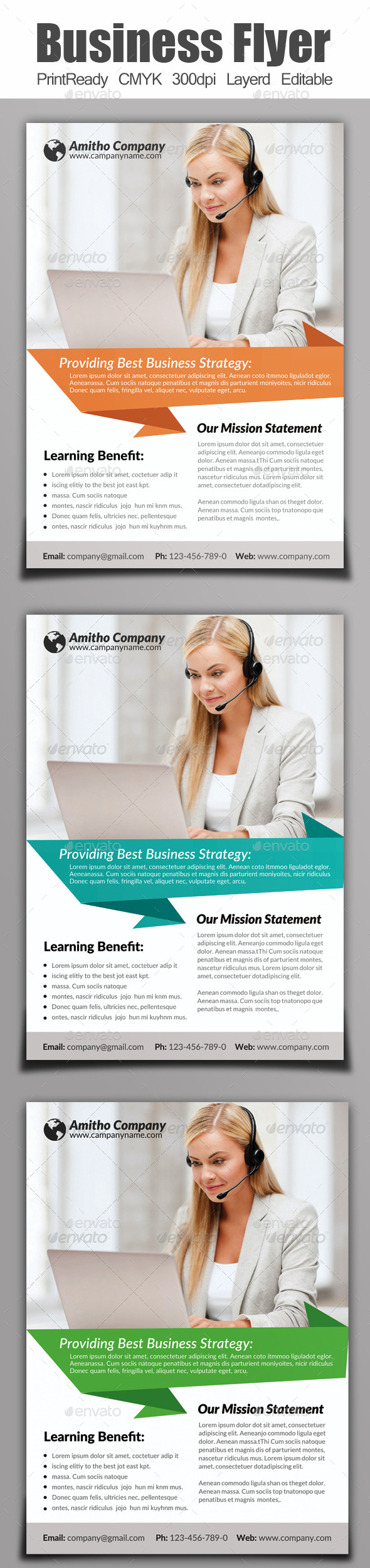 GraphicRiver A4 Business Flyer 9101852