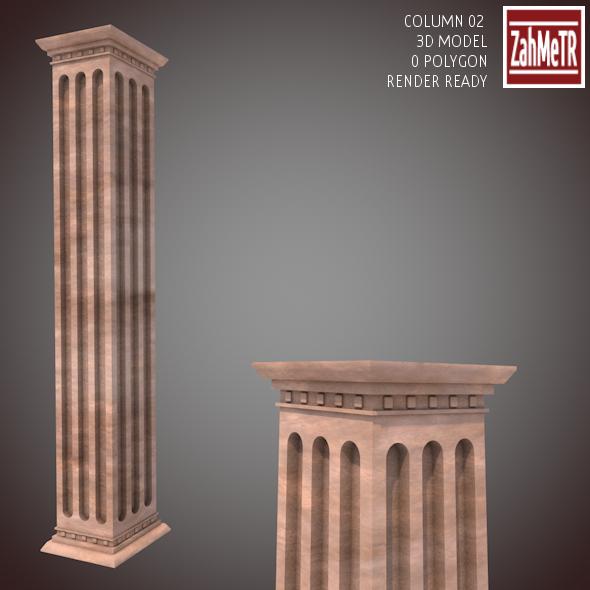 3DOcean Column 02 3D Model 9101997