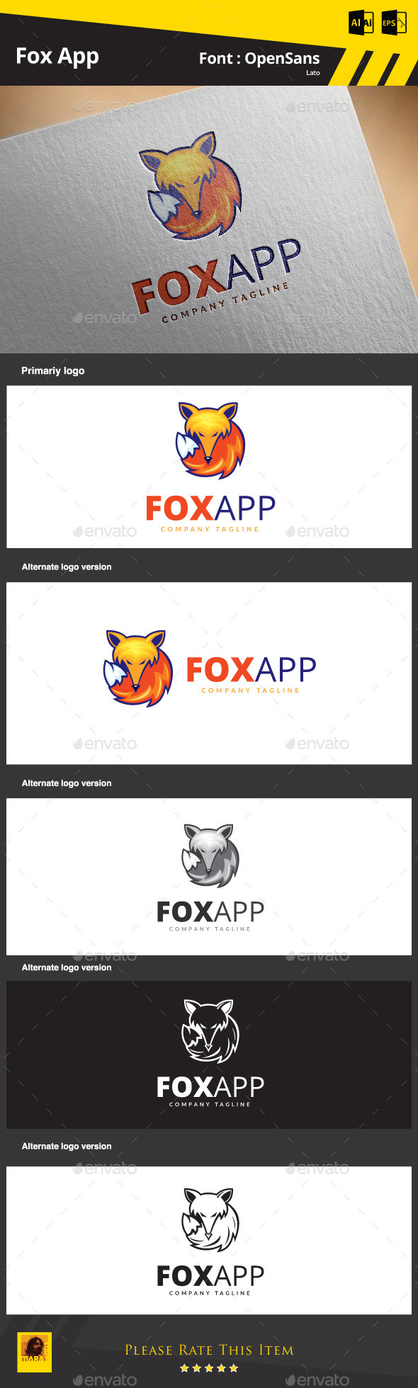 GraphicRiver Fox App 9102000