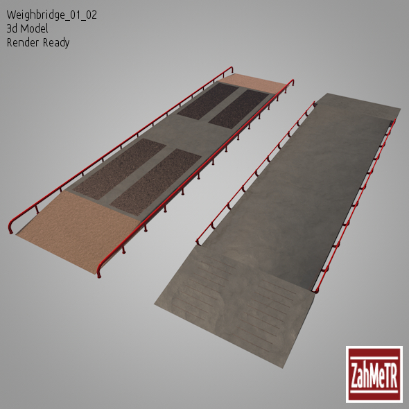 3DOcean Weighbridge 01 02 3D Model 9102119