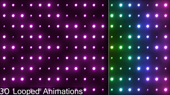 Motion Graphic - VideoHive VJ Colorful Neon Lights Wall Flashing 9102141 Hyperlino.com