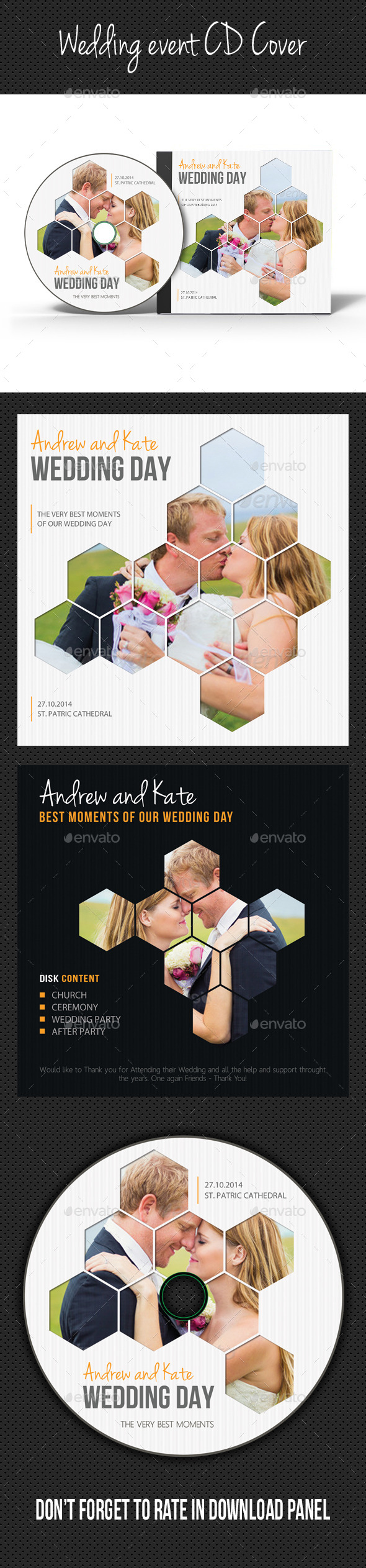 GraphicRiver Wedding Event CD Cover V06 9102144
