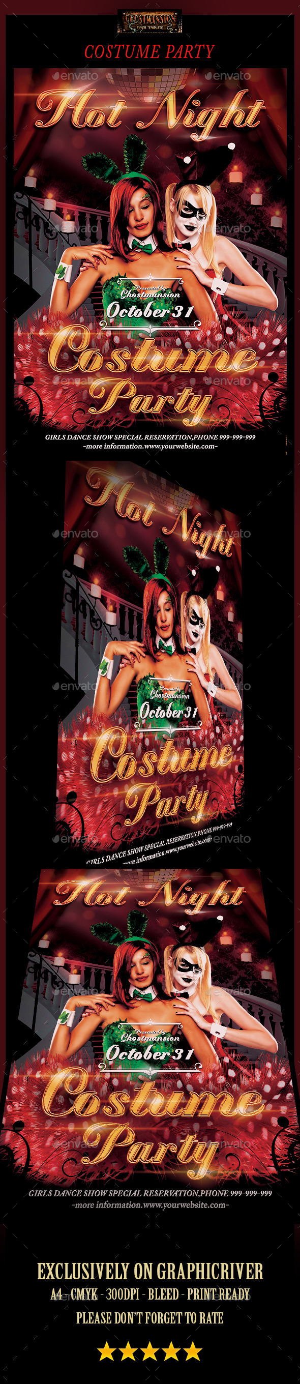 GraphicRiver Costume Party Flyer Template 9102156