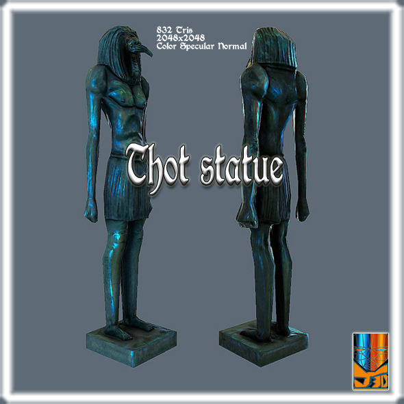 3DOcean Statue of Thot 9102175