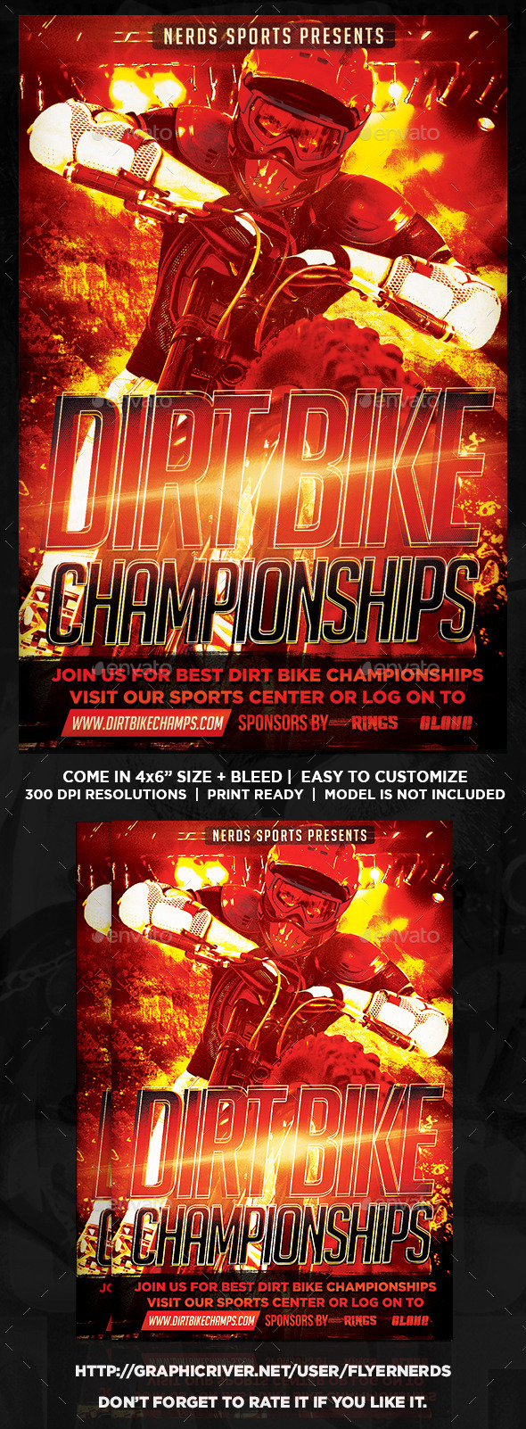 GraphicRiver Dirt Bike Championships Flyer 9087602