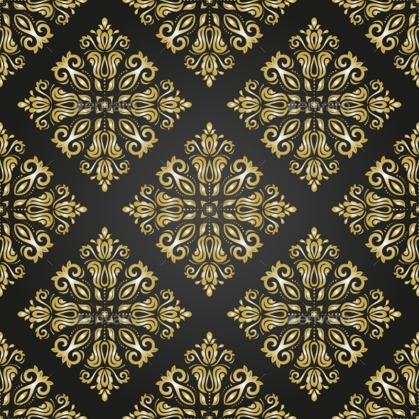 GraphicRiver Damask Seamless Vector Pattern Orient Background 9102433