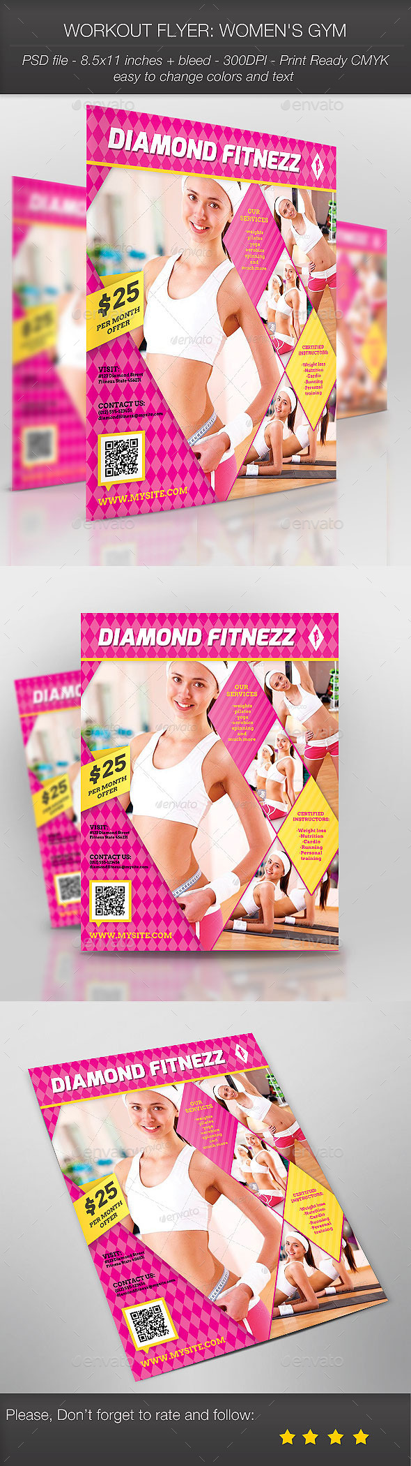 GraphicRiver Workout Flyer Women s Gym 9102478