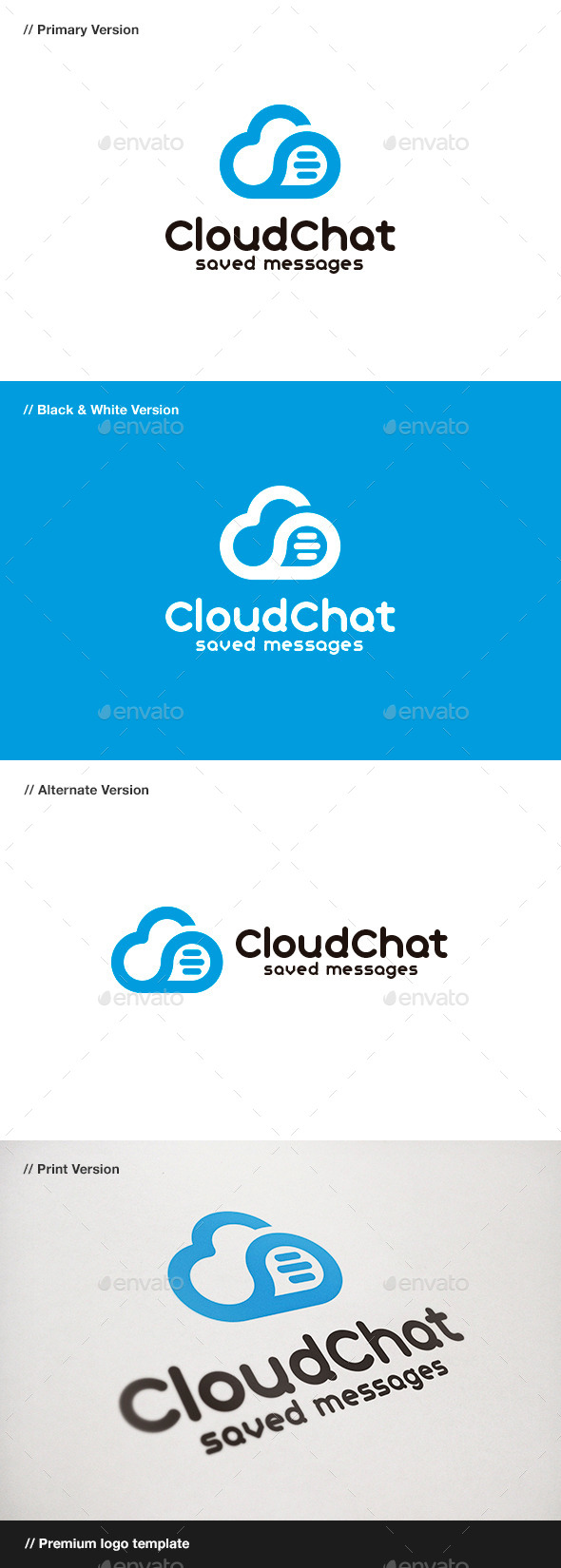 GraphicRiver Cloud Chat Logo 9102498