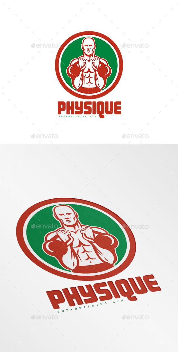 GraphicRiver Physique Bodybuilding Gym Logo 9102507