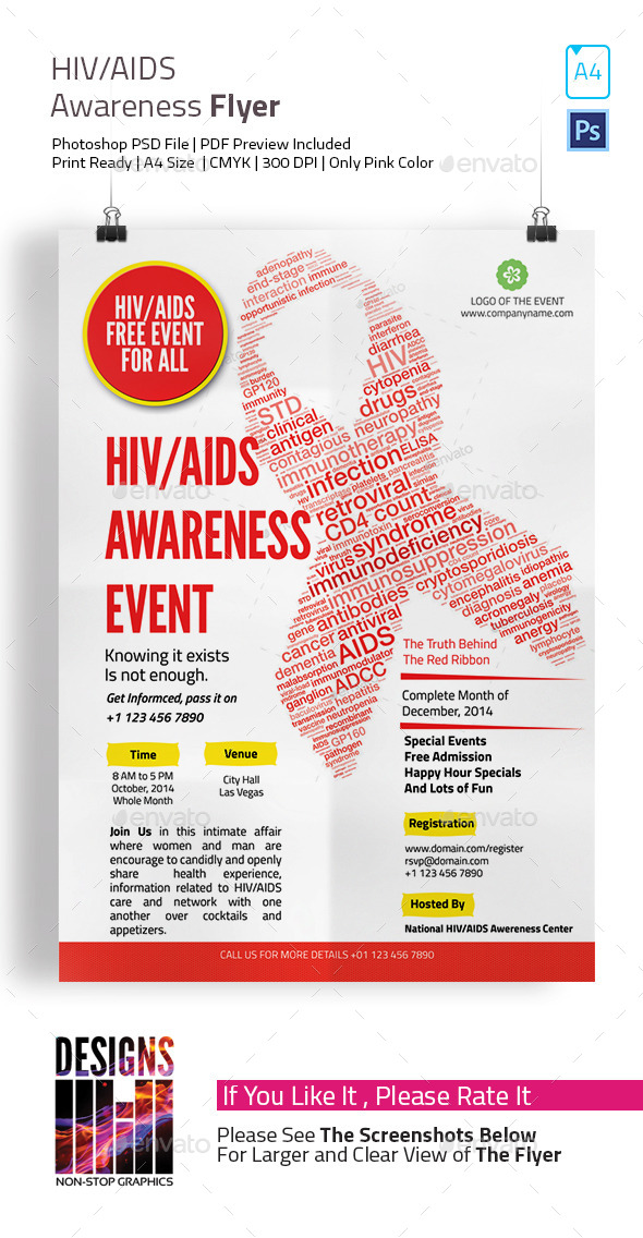 GraphicRiver HIV and AIDS Awareness Flyer 9102531