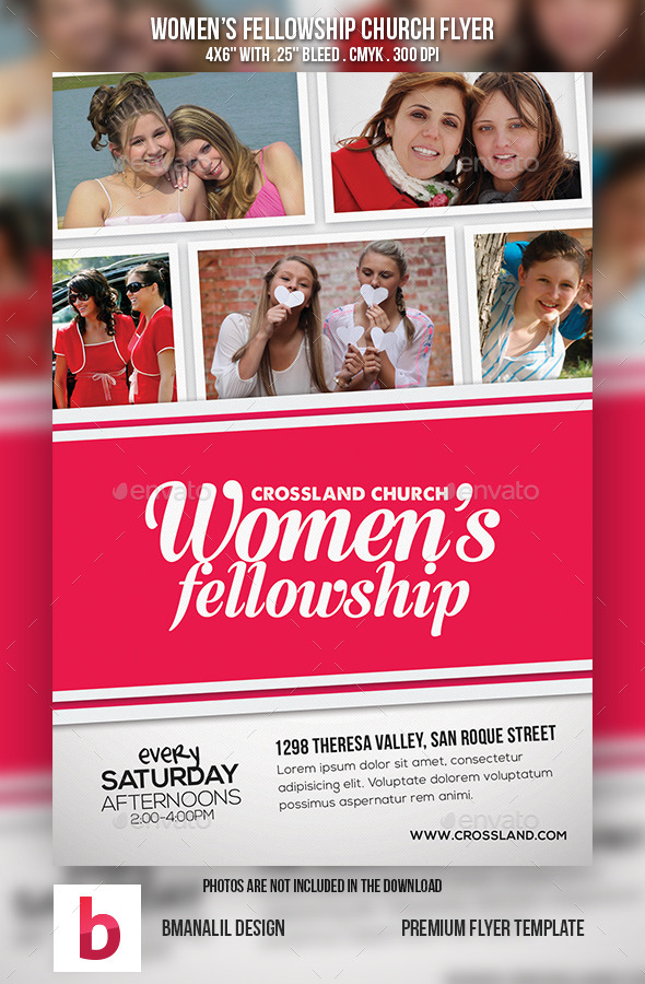 GraphicRiver Women s Fellowship Church Flyer 9102855