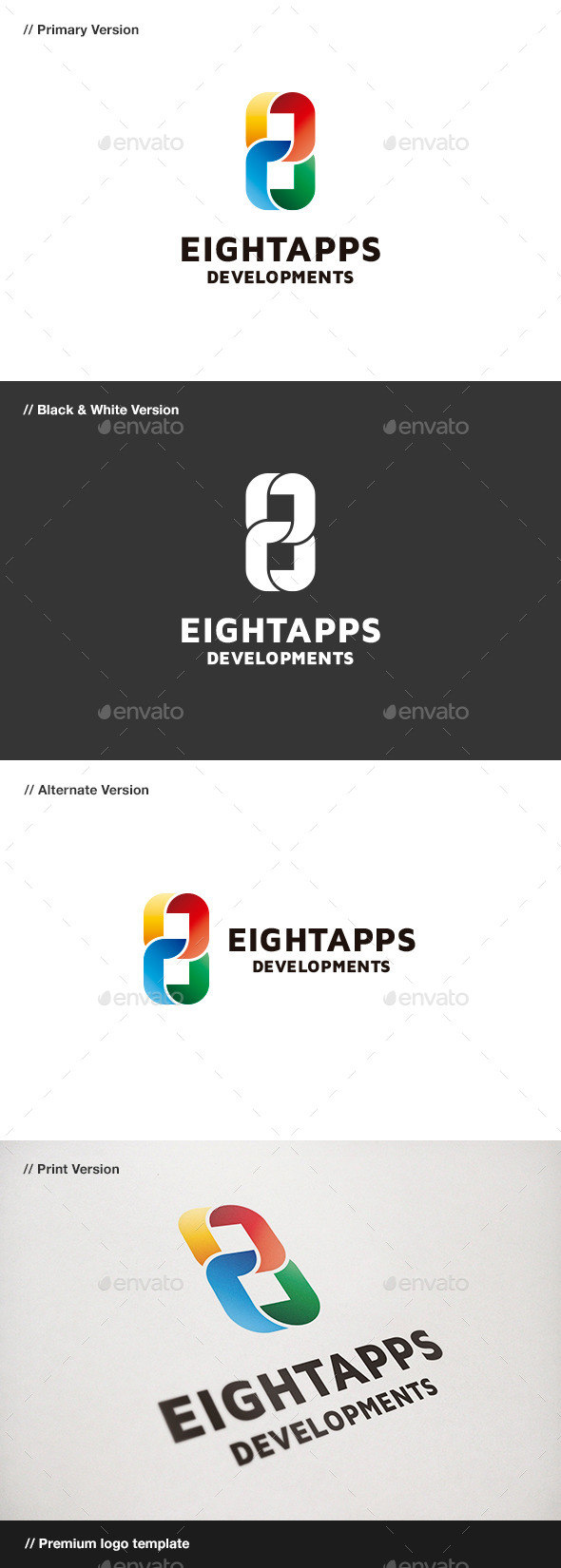 GraphicRiver Eight Apps Number 8 Logo 9102863