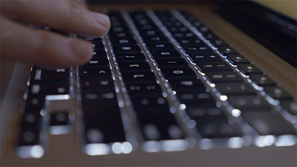 Typing on an Illuminated Keyboard