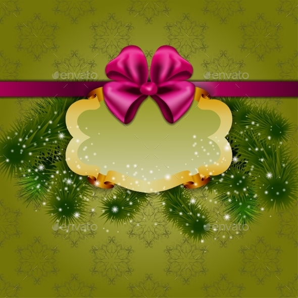 GraphicRiver Festive Christmas Background with Frame 9103126