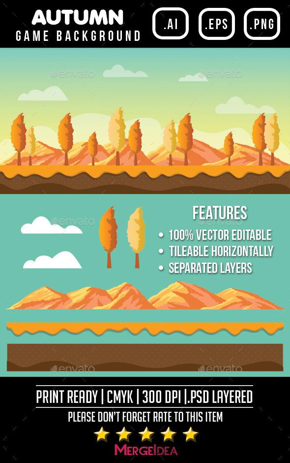 GraphicRiver Autumn Game Background 9103133