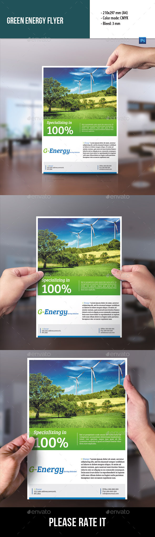 GraphicRiver Green Energy Flyer 9103422