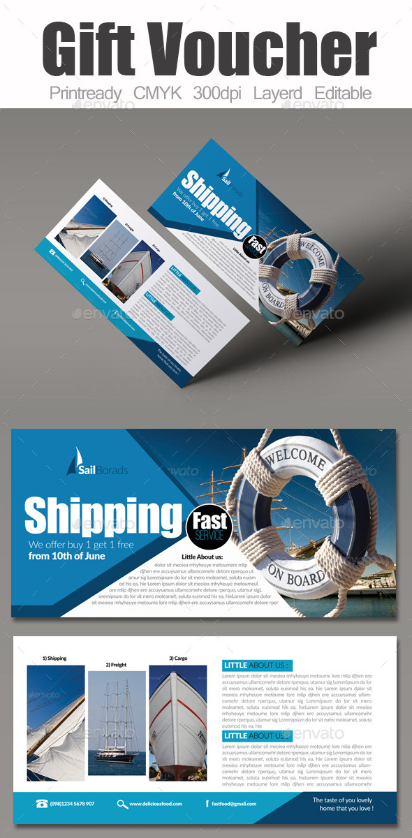GraphicRiver Freight & Boat Sailing Gift Voucher 9103742