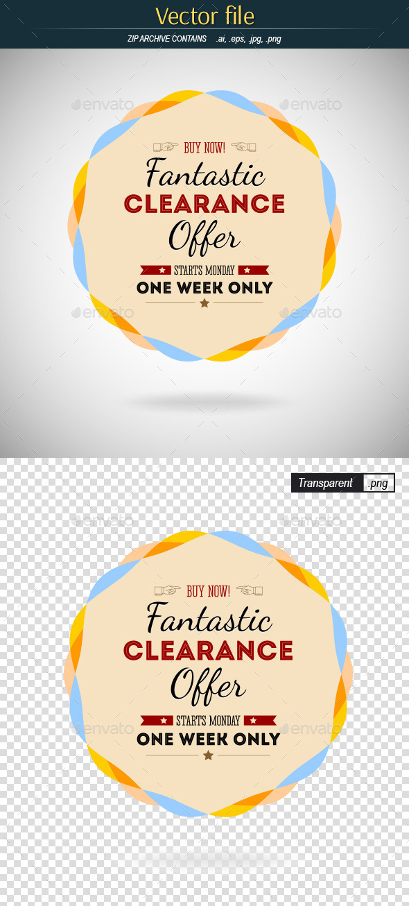GraphicRiver Badge Fantastic Offer 9103763