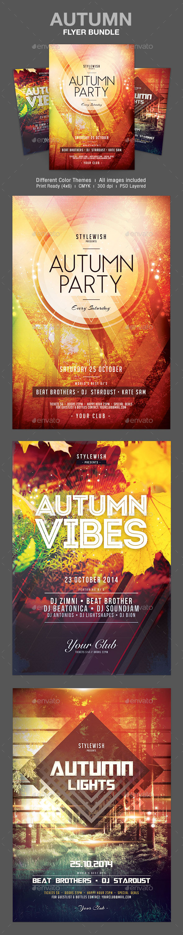 GraphicRiver Autumn Flyer Bundle 9103811