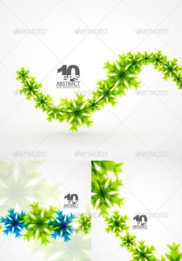 Graphic River Green Christmas Snowflakes Vectors -  Conceptual  Seasons/Holidays  Christmas 930214