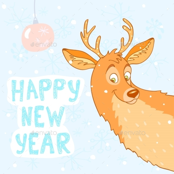 GraphicRiver Deer New Year 9103894