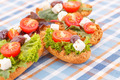Sandwiches with rusks and vegetables - PhotoDune Item for Sale