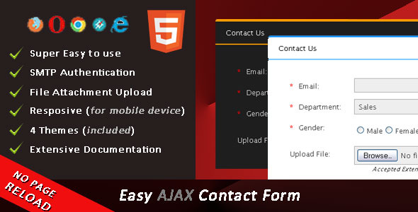 CodeCanyon Easy AJAX Contact Form 8932157